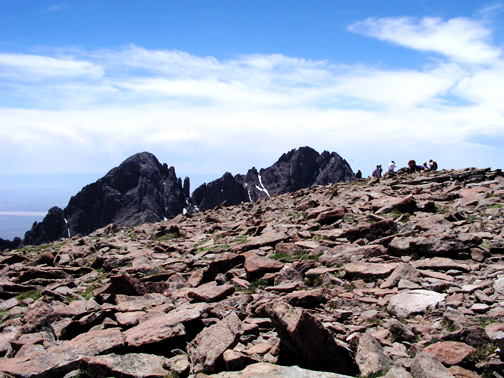 View to the summit of Humbolt Peak