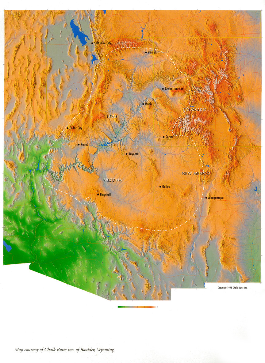 COLORADO PLATEAU MAP EXPLORING THE COLORADO PLATEAU